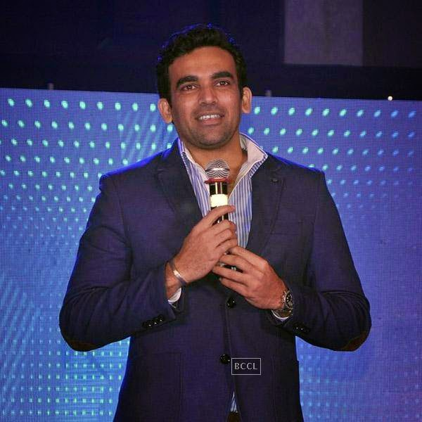 Zaheer Khan speaks during the launch of Pro Sport centre, a fitness training and physiotherapy service centre, held in Mumbai, on July 29, 2014.(Pic: Viral Bhayani)