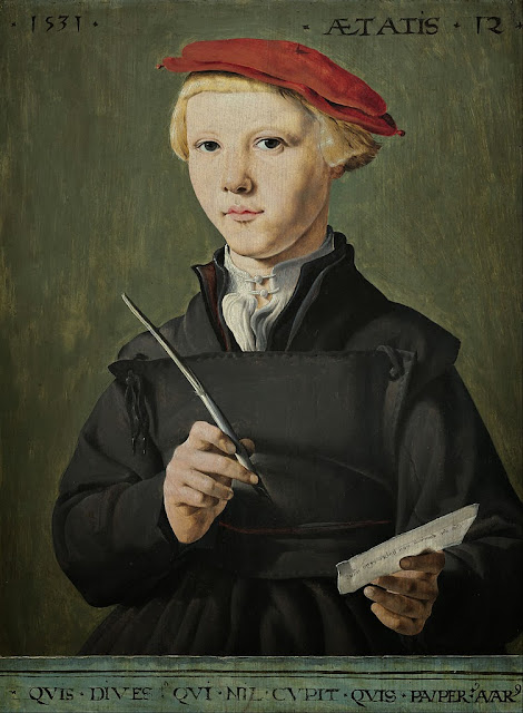 Jan van Scorel - Portrait of a Young Scholar - Google Art Project