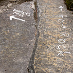 White markings on rock (14041)