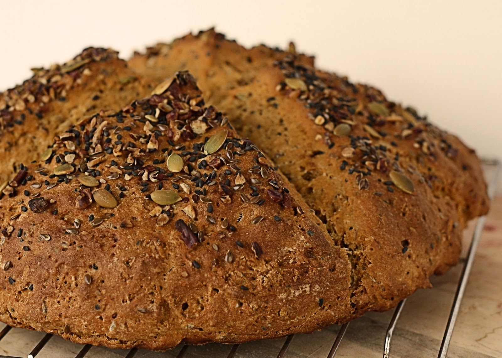 ... Exercise Will Kill You: Whole Wheat Soda Bread with Caraway and Pecans