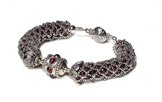 Web of Silver Bracelet by Marla Gulotta