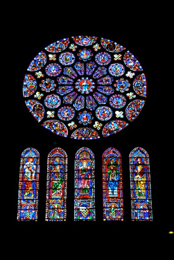 Chartres Cathedral Rose Window (above)