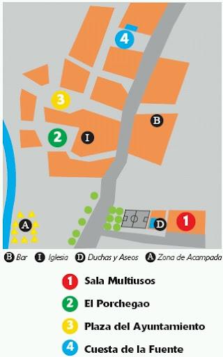 Localización actuaciones Festival Gaire