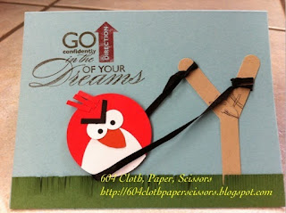 Handmade Angry Birds card by Ida Chan, Stampin' Up! demonstrator, Vancouver