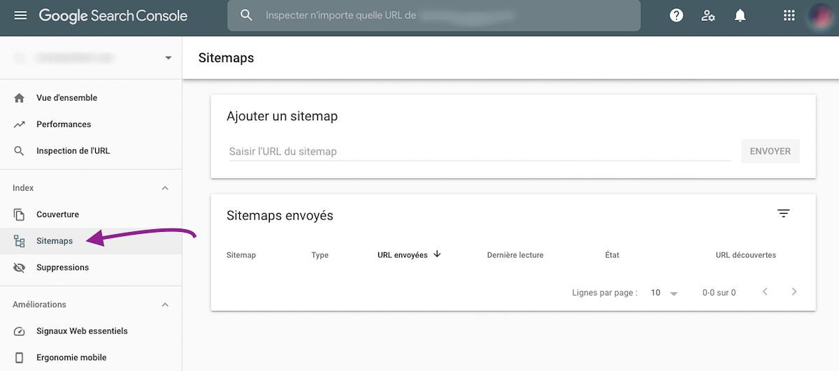 ajouter un sitemap.xml dans la Google Search Console