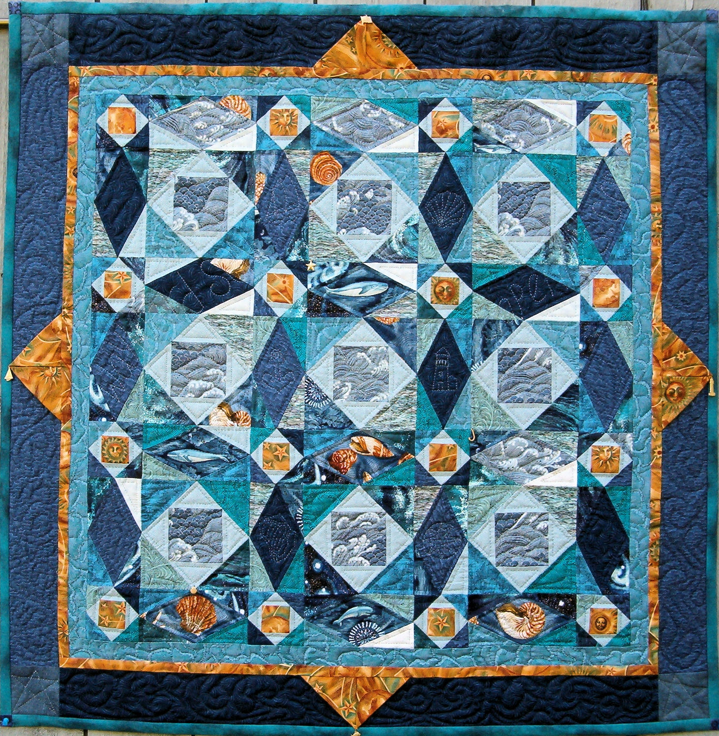 Quilt inspiration storm at sea quilts for Storm at sea quilt template