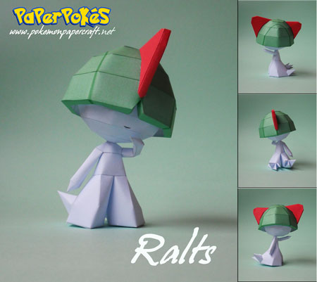 Pokemon Ralts Papercraft