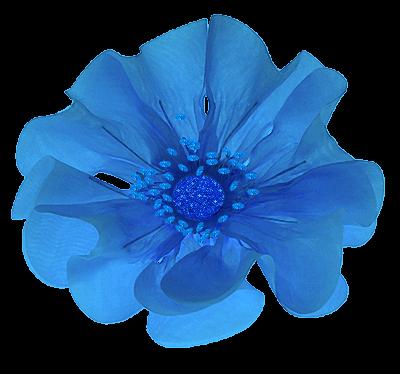 flor de fitas-azul