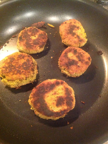 Panfried Falafel Patties Let Them Eat Vegan - Pan