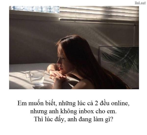 status con gái thầm trách bạn trai online mà không nói chuyện