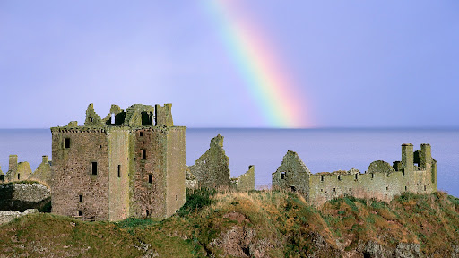 Rainbow Over Dunnottar Castle, Aberdeenshire, Scotland.jpg