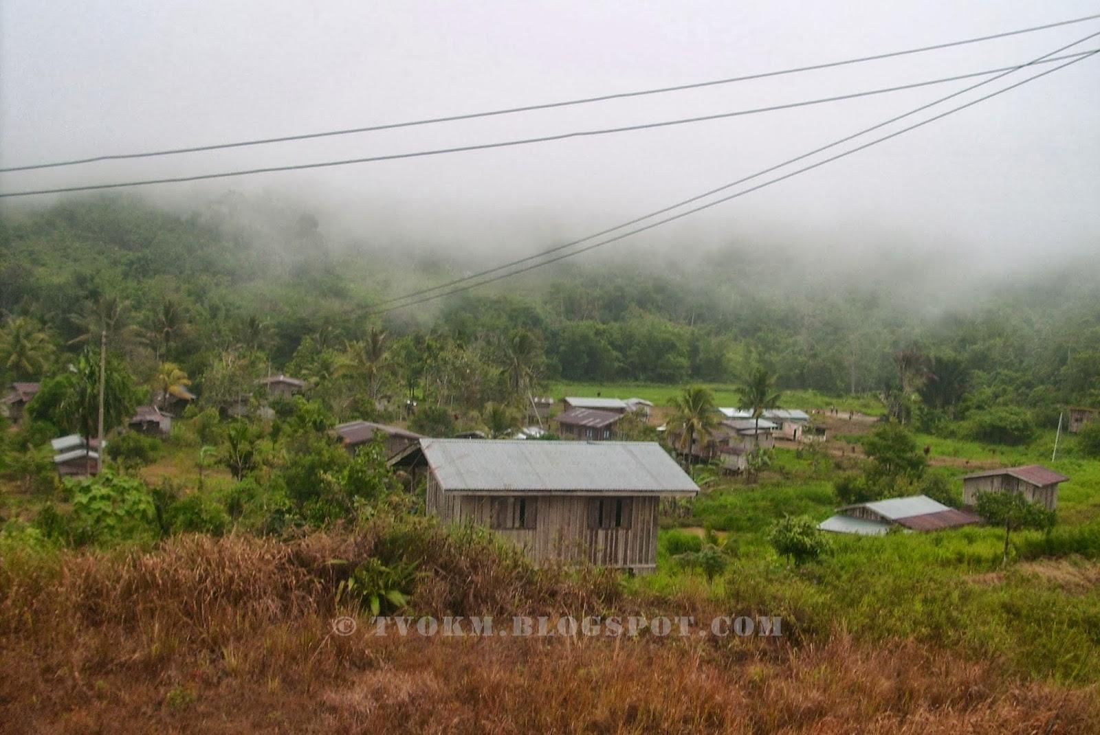 permandangan di kampung bambangan, kota marudu