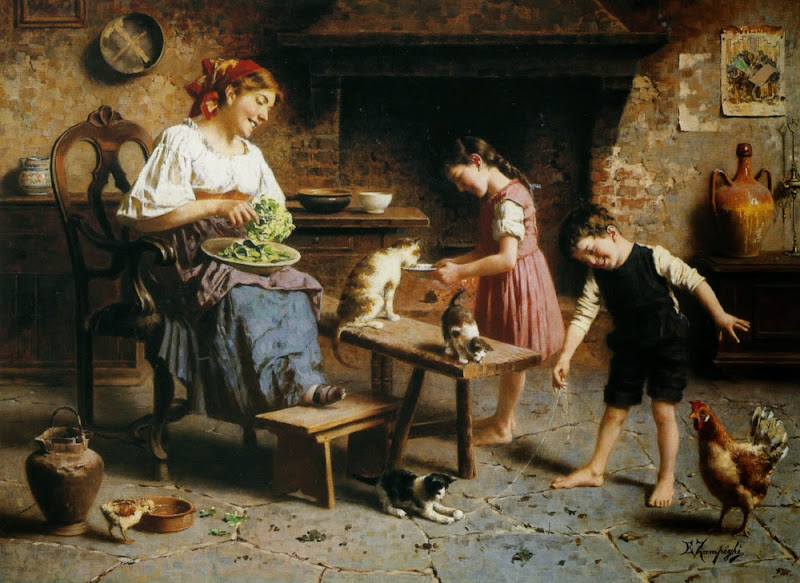 Eugenio Zampighi - Feeding Time