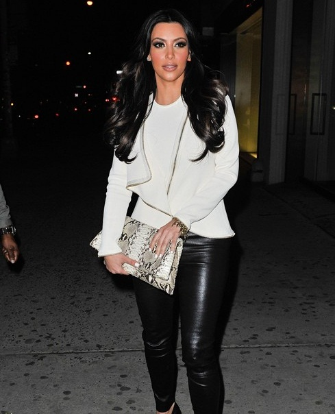 KIM KARDASHIAN AT AVRIL LAVIGNE NEW ALBUM MUSIC RELEASE PARTY IN NEW YORK