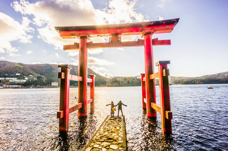 箱根神社 平和の鳥居 写真4