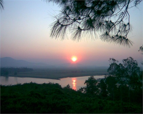 Bộ ảnh dòng sông quê hiền hòa, gắn bó với tuổi thơ