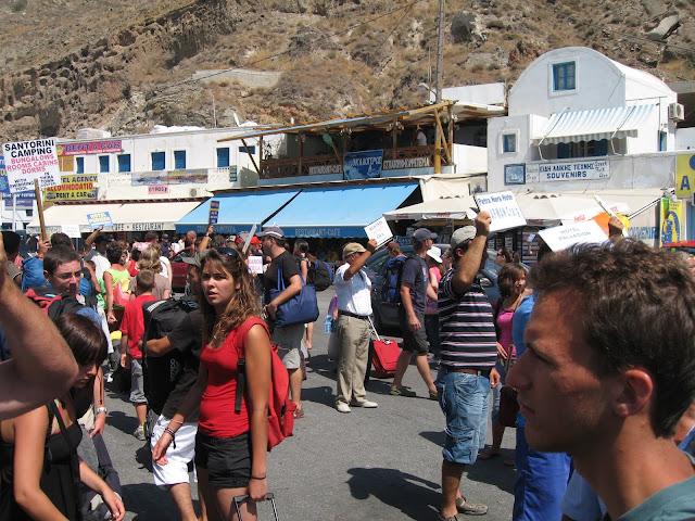 Blog de voyage-en-famille : Voyages en famille, Arrivée à Santorin