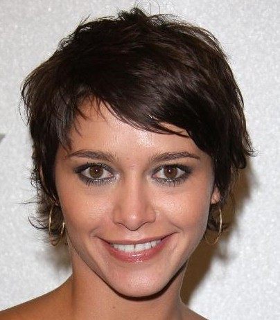 hairstyles bangs pictures. short brown hair styles 2010.