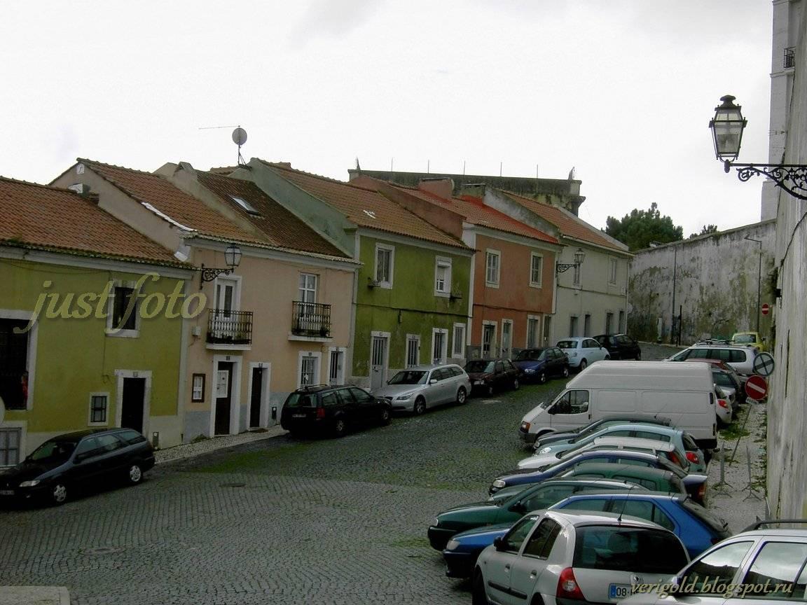 Алфама Лиссабон разноцветные дома фото