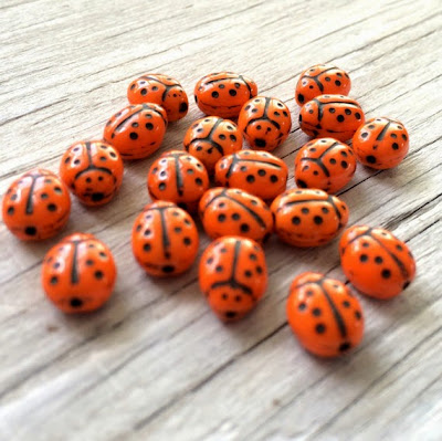 Czech Glass Ladybugs from All Things Beaded