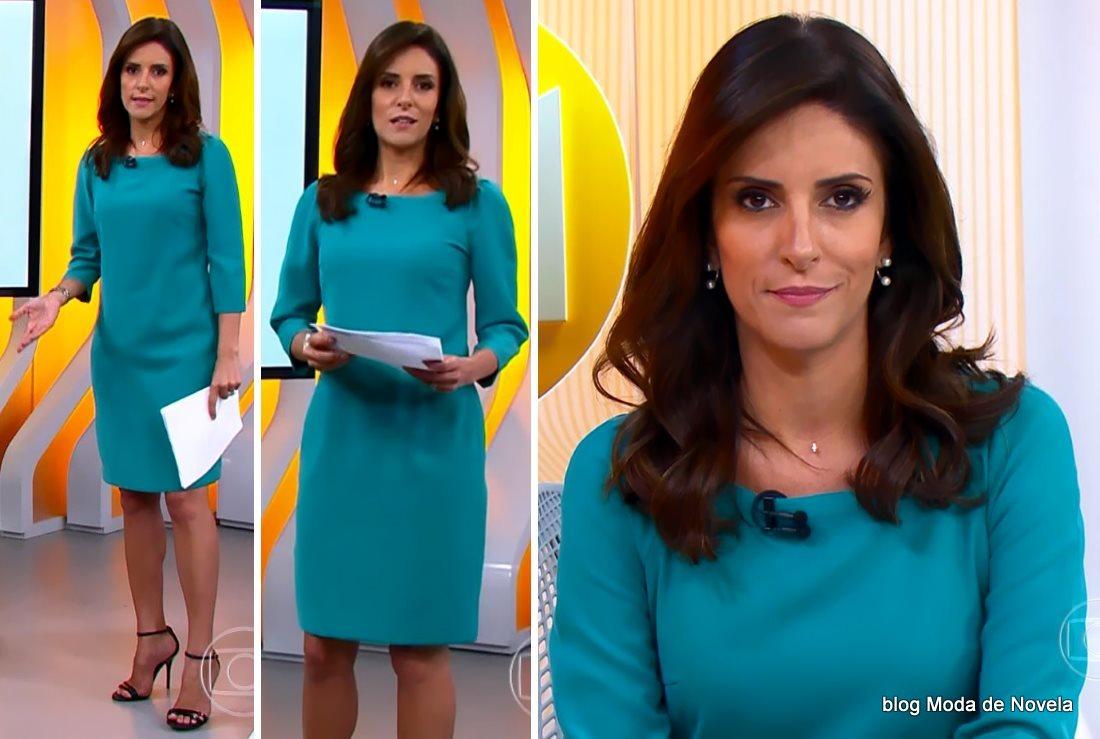 moda do programa Hora 1, look da Monalisa Perrone no dia 21 de janeiro de 2015