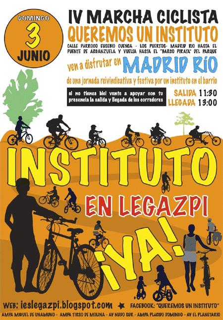 IV Marcha Ciclista. Queremos un Instituto en Legazpi