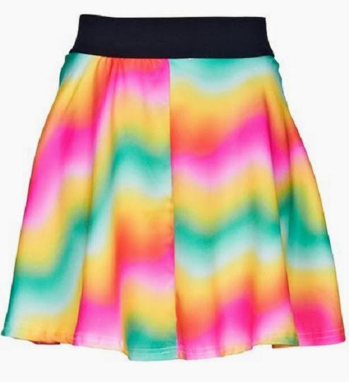 inspiração: arco-íris - saia rodada colorida