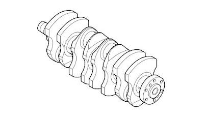 Fiat 500 Crankshaft