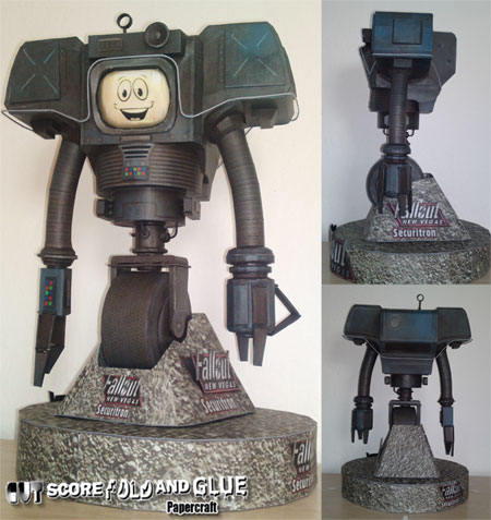Fallout New Vegas Yes Man Papercraft