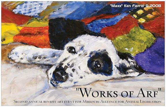 Works of Arf 2008 Postcard, Created by artist Ken Farris