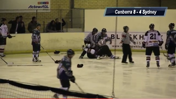 canberra knights getting in a fight
