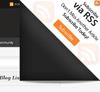 Contoh Page Peel - Cara Membuat Halaman Blog Melengkung