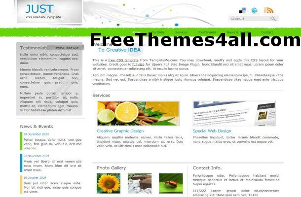 Free HTML Simple Business Website Template