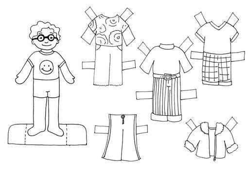 Dibujos Recortables Para Colorear E Imprimir: Fichas De Inglés Para Niños: Recortables De Niños Para