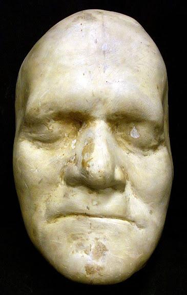 Máscara de Benjamin Franklin, feita ainda em vida. (Foto: Princeton University Library)