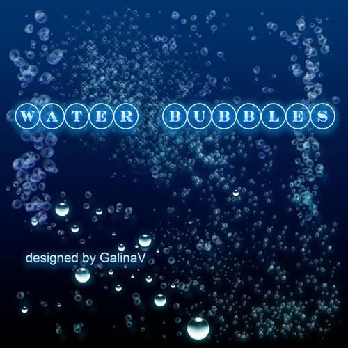 PSD-исходник Водные пузыри