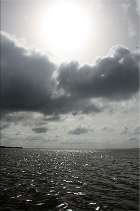 Vista al horizonte, río Casamance