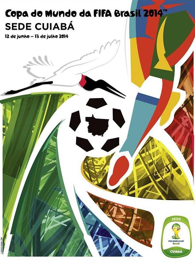 Cartaz sede Cuiabá copa do mundo