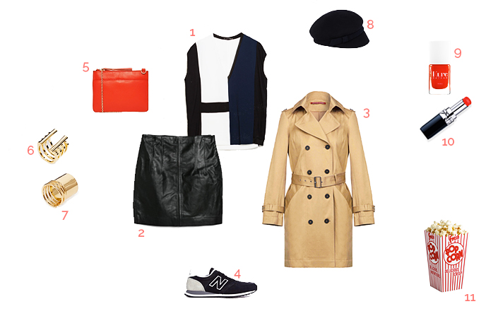 movie night outfit, situations, what to wear for an evening with friends, shopping inspiration, look idea