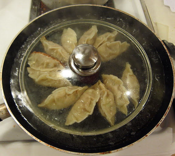 Steaming Gyoza