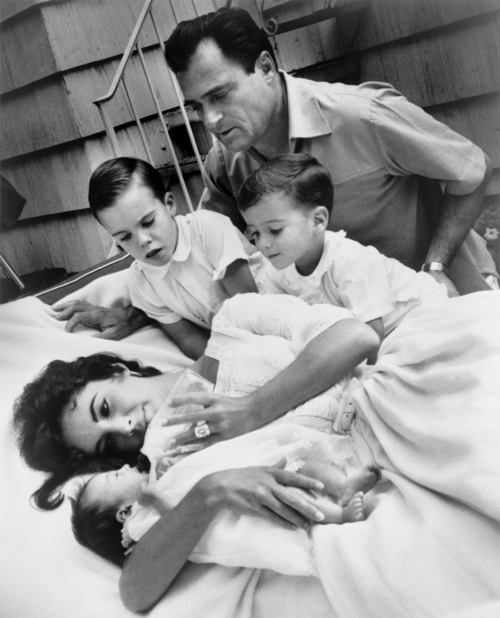 With her great loves mike todd her children and below richard burton