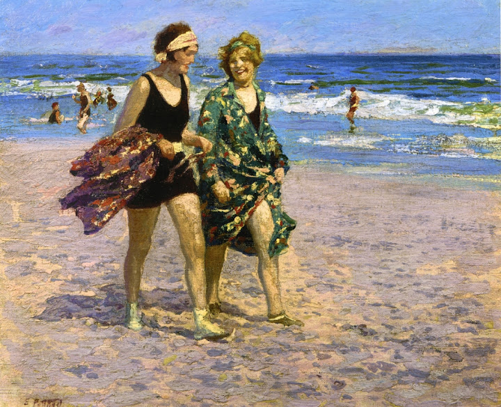 Edward Henry Potthast - Blonde and Brunette