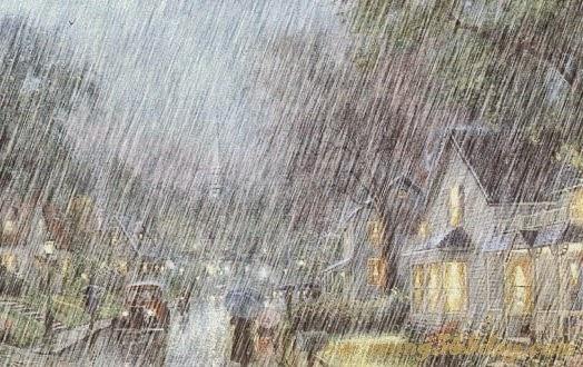 Thơ lục bát mưa buồn lạnh lẽo