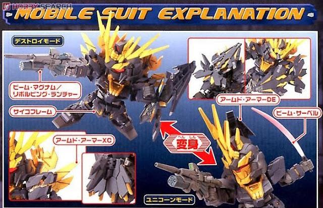 Unicorn Gundam 02 Banshee Norn dễ dàng lắp ráp và mang theo trong giỏ