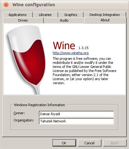 Wine 1.3.15 di Ubuntu 10.10