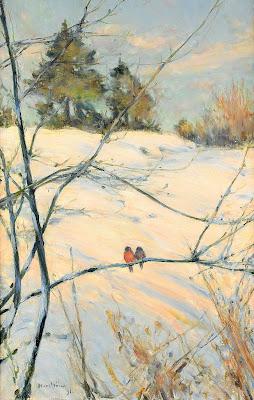 Karl Nordström - Winter Scene from Skansen
