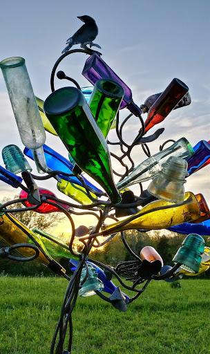 Katrina Bottle Tree by Stephanie Dwyer