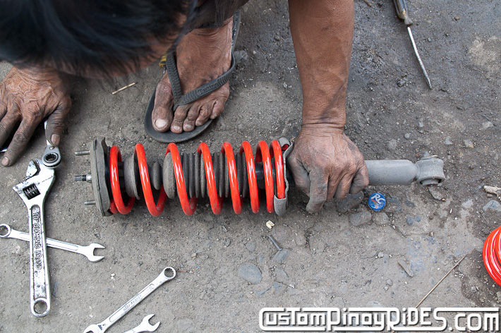 Custom Pinoy Rides Nissan Cefiro A32 VIP Style Lowering Spring Install pic20