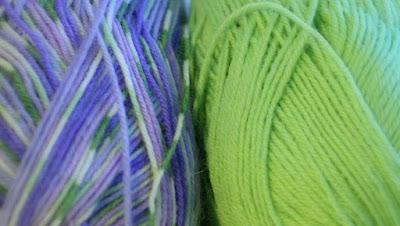 Vihreissä sukissa käytetyt langat