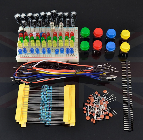 Starter electronics components package element parts kit